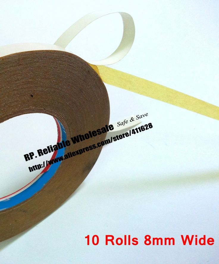 19.94$  Buy now - http://ali2kj.shopchina.info/1/go.php?t=32495325076 - 10 Rolls 8mm wide, 30M Strong Adhesive, Double Oil Glue Sticky Tape for Cloth, Embroider Machine Stitch DIY  #magazineonlinewebsite