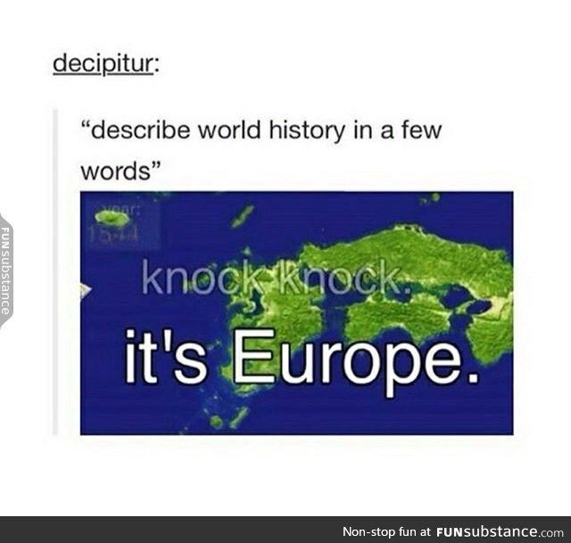 knock, knock, it's Europe From: History of Japan on Youtube