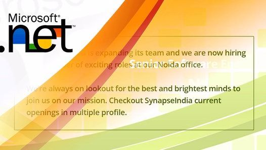 Looking for exciting job opportunity? Watch and share this video about current openings with SynapseIndia: http://www.dailymotion.com/video/x54opve_synapseindia-current-openings_tech