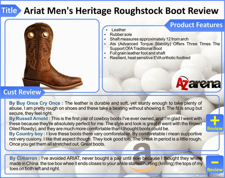 Ariat Men's Heritage Roughstock Boot Review
