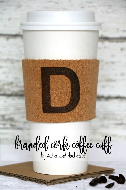 branded cork coffee cuff for father's day