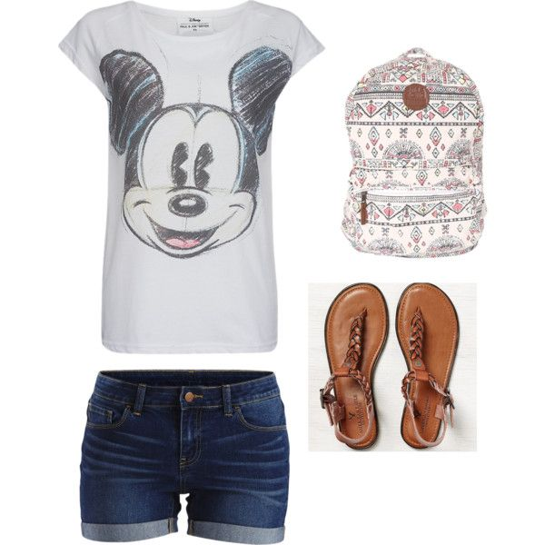 Theme Park Outfit by sarah-rhiannon on Polyvore featuring polyvore, fashion, style, Paul & Joe Sister, VILA, American Eagle Outfitters and Billabong