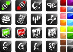 Foreign Exchange currency trading royalty free icons vector art illustration