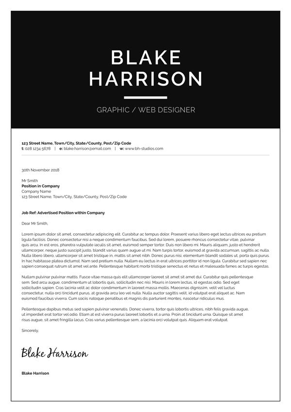 ms word resume cover letter template
