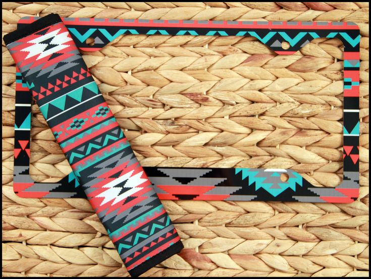 Aztec License Plate Frame   Seat Belt Cover Set  Aztec Tribal Monogrammed  Gifts Personalized Custom   Cute Car AccessoriesCute. 78 best car images on Pinterest   Steering wheel covers  Steering