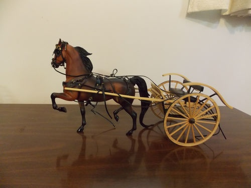 Breyer Horse Naranda 2002 LTD ED W Harness AND Meadowbrook Cart | eBay
