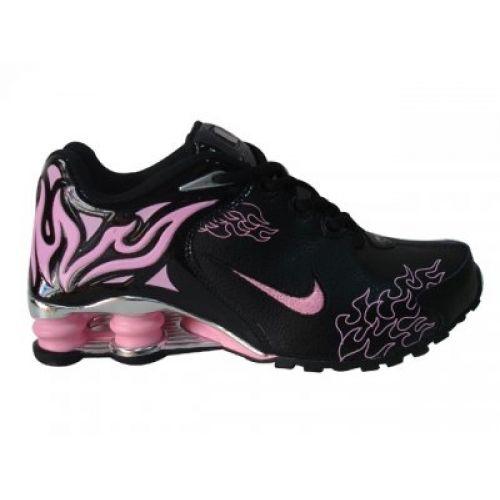 Nike Shox R4 Torch womens shoes black pink purple silver