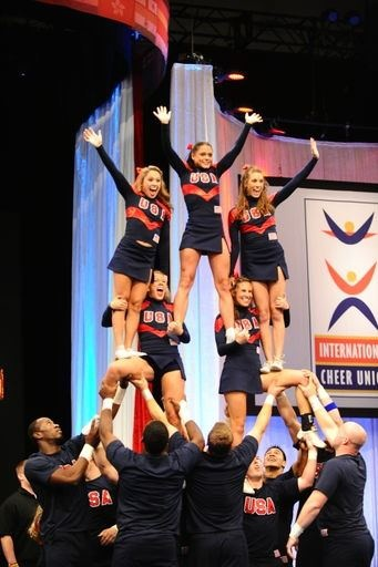 Great stunt from Team USA! For tons on stunting tips, check out CheerleadingInfoCenter.com!
