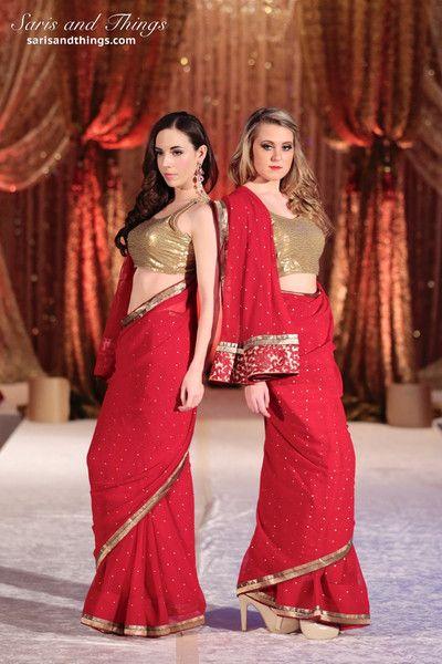 Matching Red Bridesmaid Sarees | Saris and Things