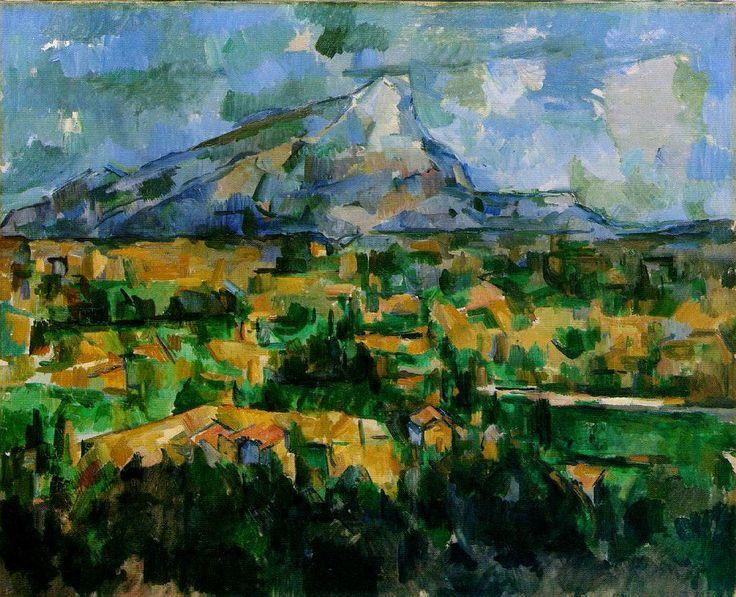 """""""La Montagna Saint-Victoire vista dai Lauves"""", Paul Cézanne, 1902-04; olio su tela, 69x89,5 cm; l'opera è esposta presso il Philadelphia Museum of Art, Philadelphia,"""