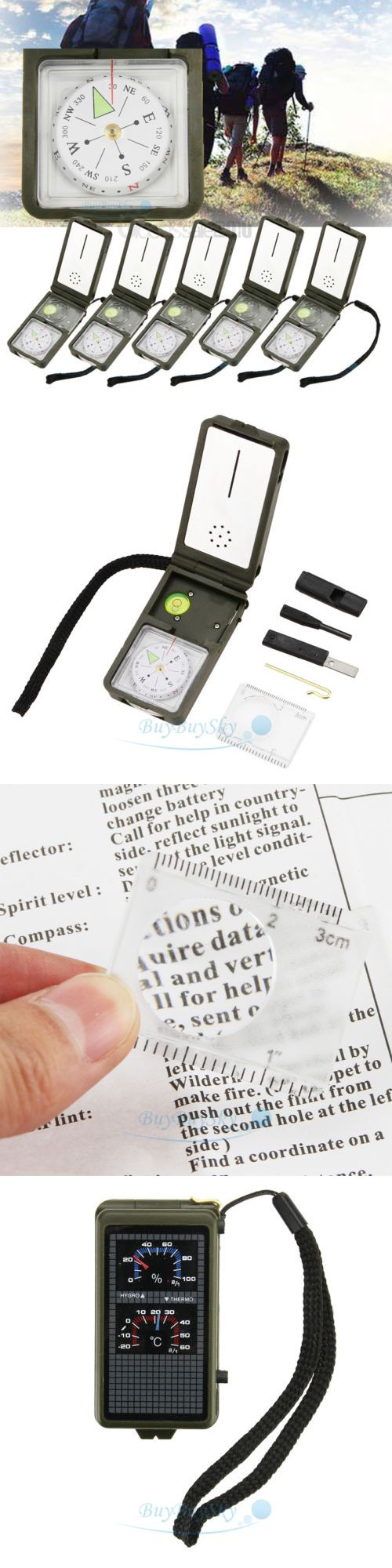 Compasses and GPS 52482: 5X Multifunction10 In1 Outdoor Military Camping Hiking Survival Tool Compass Kit -> BUY IT NOW ONLY: $32.5 on eBay!