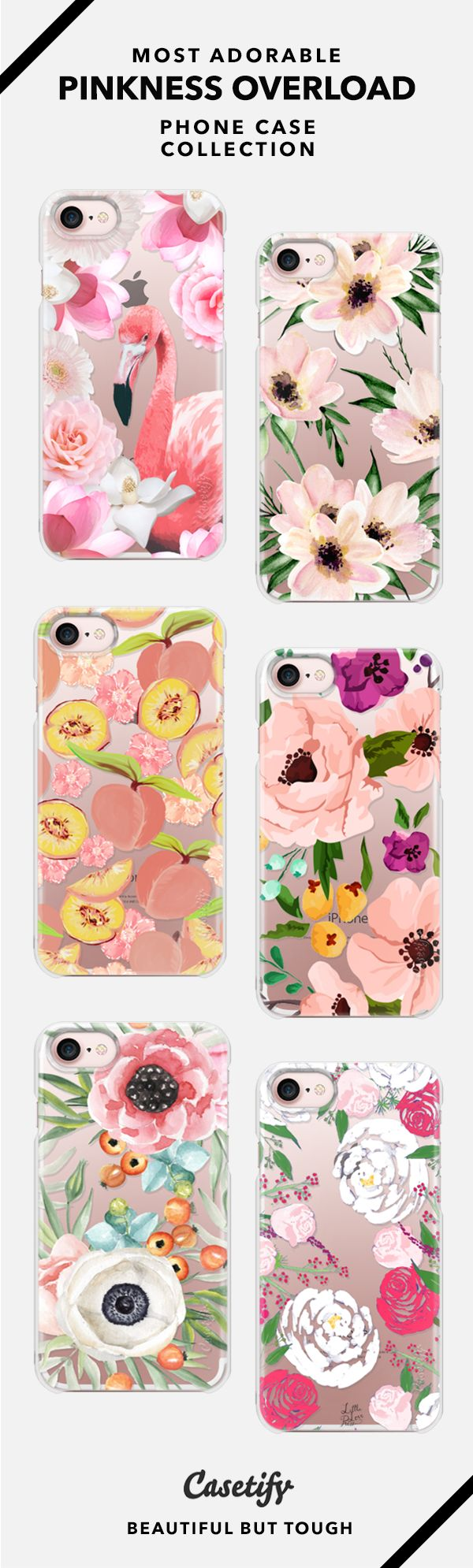 """'Pink Is The New Me."""" Pinkness Overload Phone Case Collection - iPhone 6/6s/7/7+ AND MORE! Shop them here ☝️☝️☝️ BEAUTIFUL BUT TOUGH ✨ - Pink, Flower, Love, Sweet, Floral, Obsessed, Girl, Cute, Art, Flamingo, Summer"""