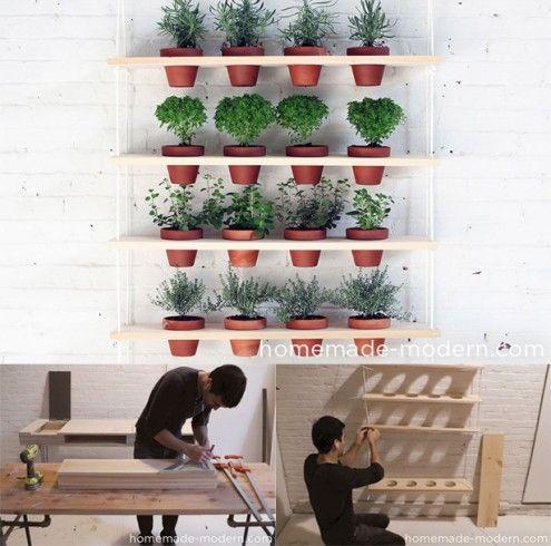 palette-étagère à plantes