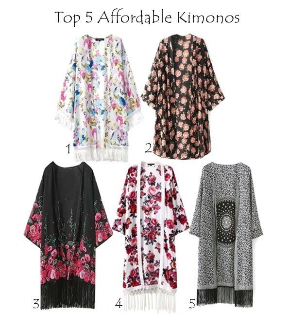 Check out these top 5 affordable kimonos I stubled upon on a website, they are beautiful for this summer outfits and look so comfortable to wear with maxies, the patterns are so lovely and girly. To get one, visit the…