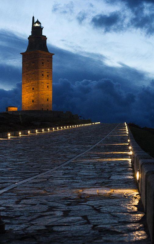 torre de hercules-- gregorio pinazo A Coruña, #Galicia