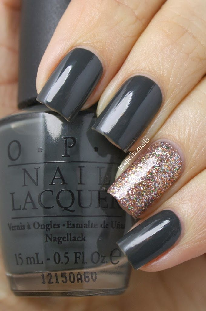 OPI Nein! Nein! Nein! OK Fine! and Bring On The Bling - grape fizz nails