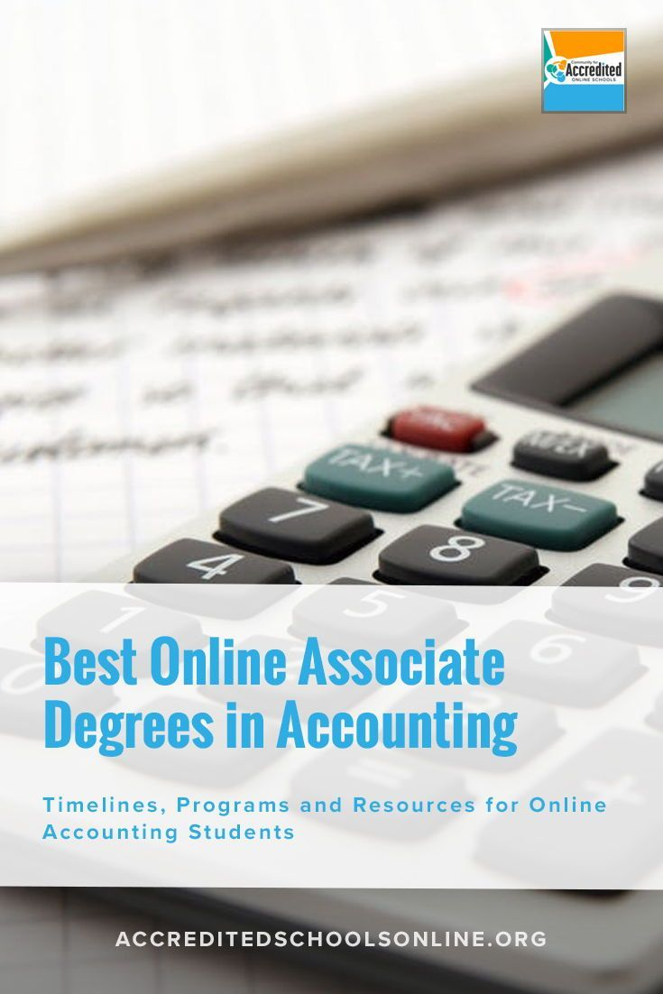 Accounting Is A Growing Field With An Expected Job Growth Of 11 By 2024 This High Demand Will Associate Degree Online Associates Degree Accounting Programs