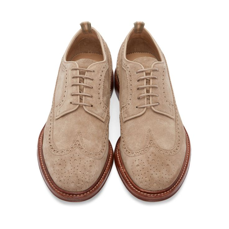 Officine Creative Beige Suede Brogues