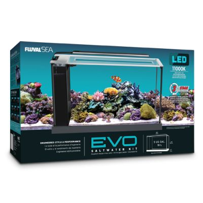 Evo aquarium kit 10528 aquariums furniture fluval for Saltwater fish tank kit