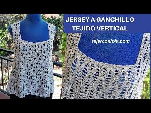 JERSEY GANCHILLO TEJIDO VERTICAL - YouTube