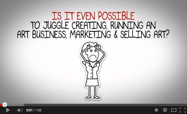 Video: Is it even possible to juggle creating, running an art business, marketing & selling art?