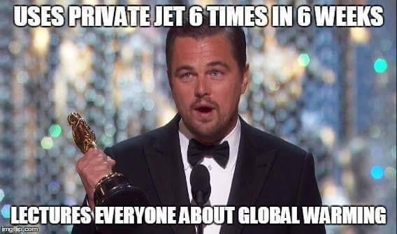 Leonardo DiCaprio Makes Oscar Speech About Global Warming, Despite Numerous Times Taking Private jet...