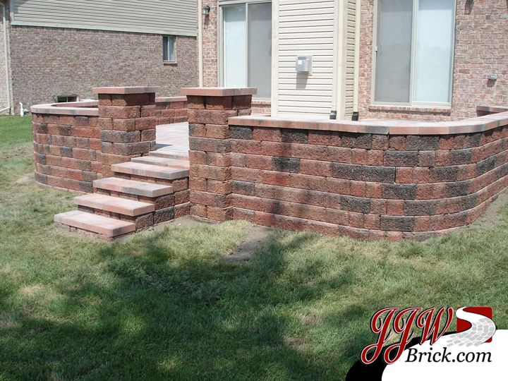 Brick Paver Patio With Seating Wall And Brick Pillars   Addison Twp., MI  CLICK