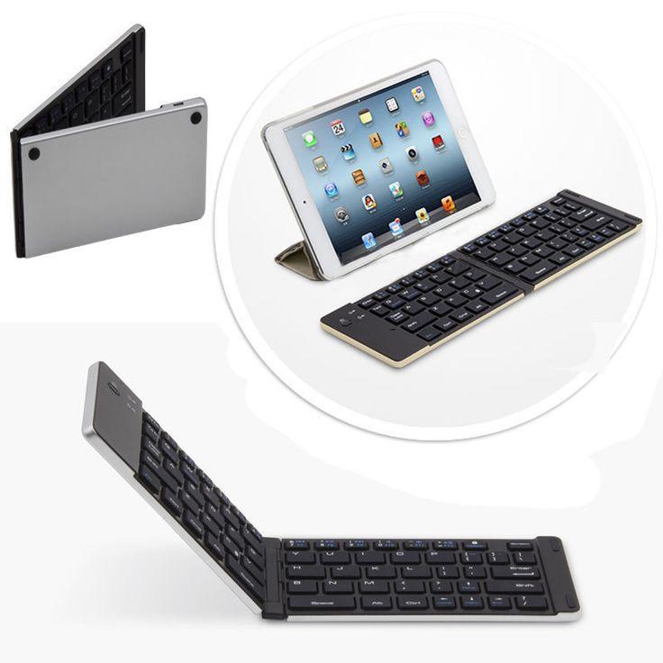Bluetooth Tastatur - Cube iWork 10 Faltbare QWERTY Keyboard F66 Silber | eBay