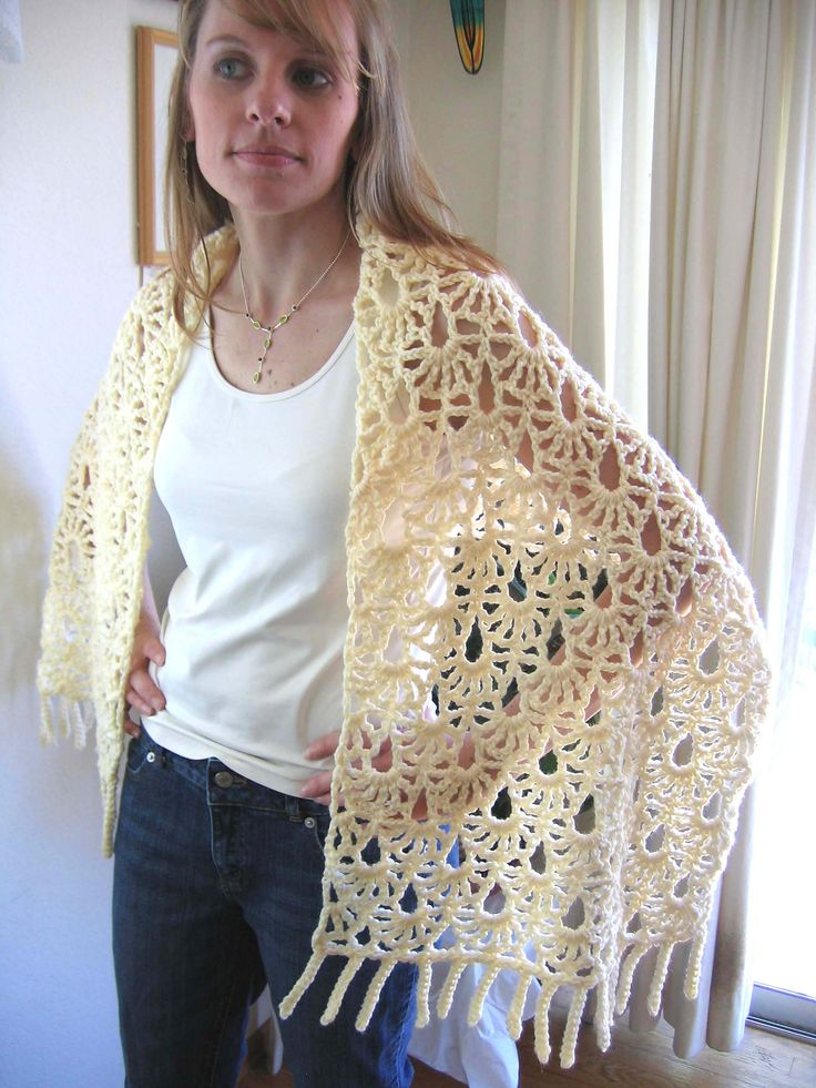 Ravelry: Lacy Fans Shawl by Kathy North