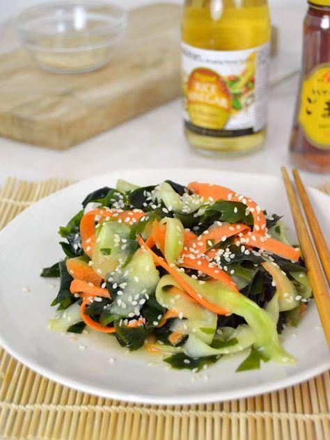 Ensalada de pepino y algas wakame. Receta Japonesa | Cuuking! Recetas de cocina