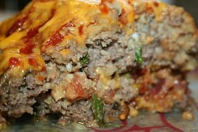 BBQ BACON-STUFFED MEATLOAF from the Pampered Chef Deep Covered Baker cookbook  8 ounces fresh mushrooms  1 tbsp vegetable oil  6 slices coo...
