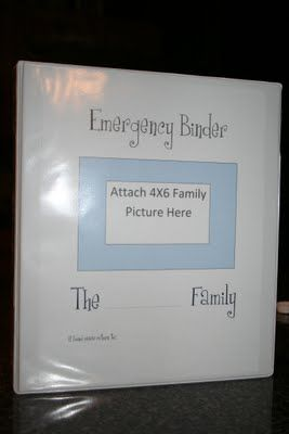 I need to do this!  A binder for all important documents in case of fire, tornado, etc.  (passports, birth & marriage certificates, social security cards, mortgage info, home owners info).  I would put something like this in a fire proof box along with my external hard drive that I store all my pictures on.