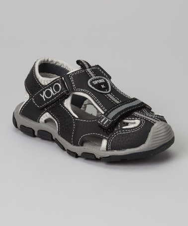 Take a look at this Black Sporty Sandal by Yolo on #zulily today!