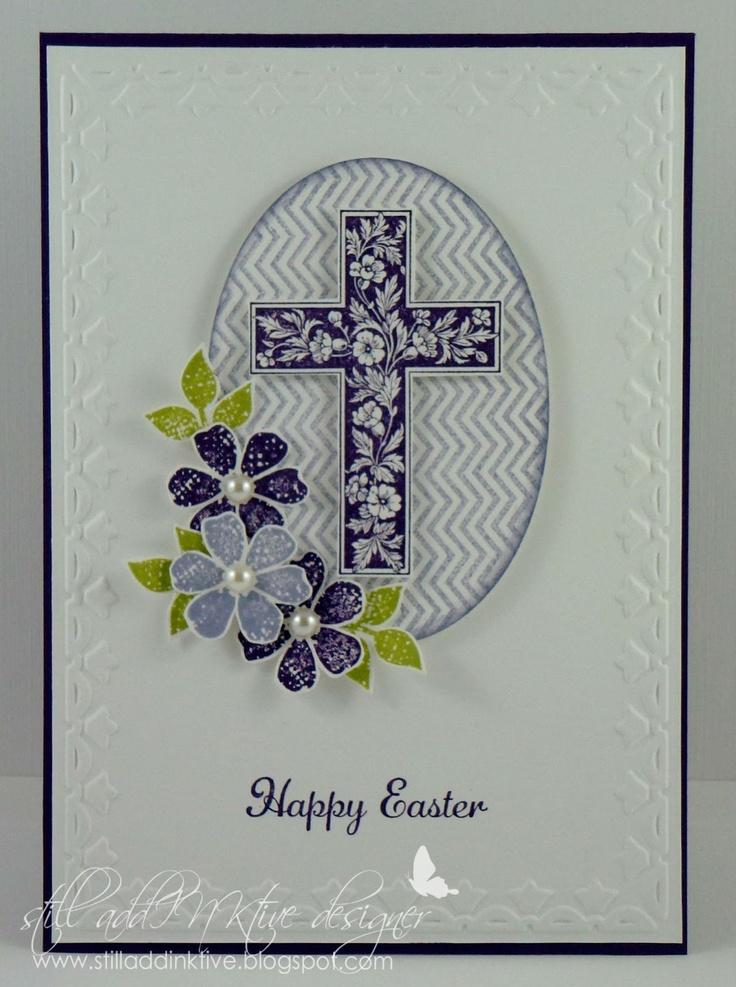 card easter cross communion -  konfirmation - påske kort - ostern Karte