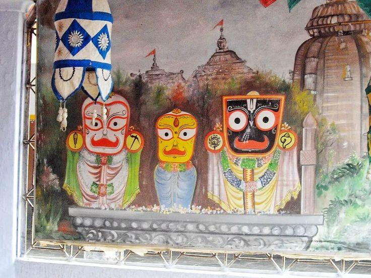 Le Dieu d'Inde centrale Jagannath. Article sur les grottes préhistoriques d'Ongna en Inde centrale et leurs similitudes avec la culture tribale actuelle https://ethnotravels.com/inde/grottes-prehistoriques-ongna/