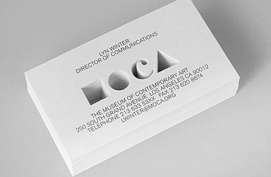 carte entreprise découpe intérieur originale design grammage papier