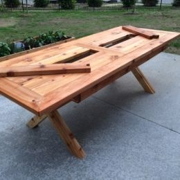 Free DIY Furniture Plans To Build A Rustic Outdoor Table With Built In  Drink Cooler |