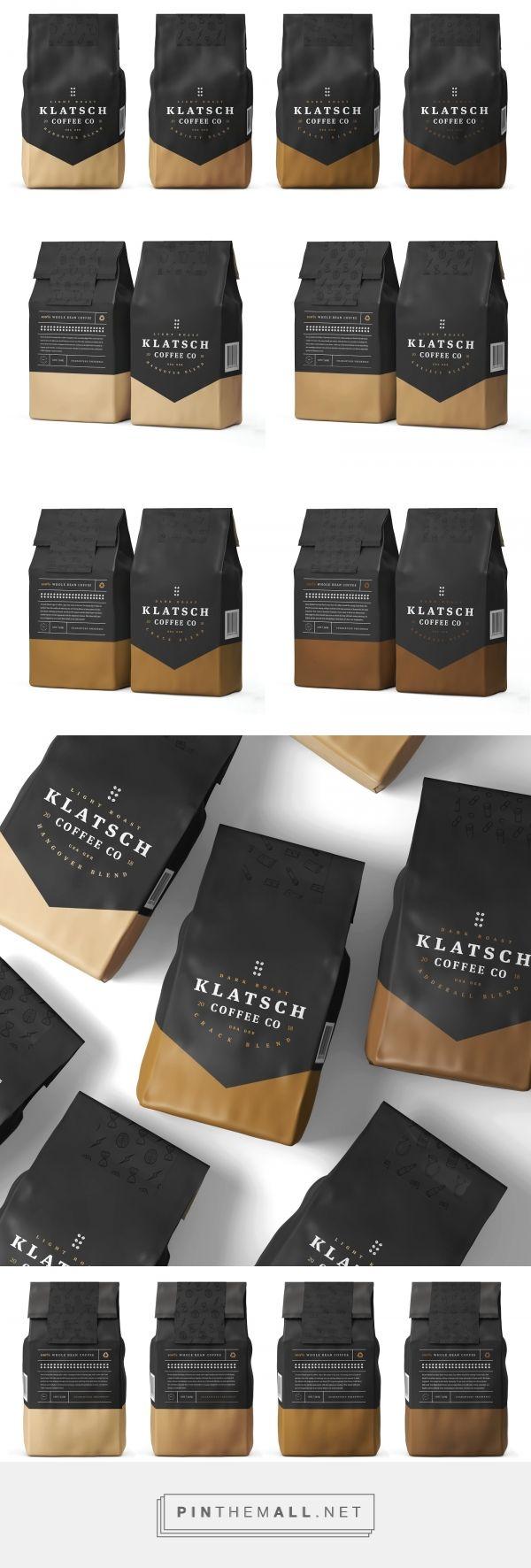 Klatsch Coffee Co (student project) packaging design by David Jaimes - https://www.packagingoftheworld.com/2018/04/klatsch-coffee-co.html - created via https://pinthemall.net