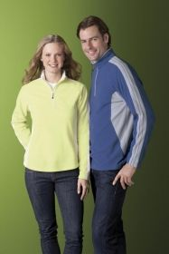 Promotional Products Ideas That Work: MEN'S RECYCLED POLYESTER HALF-ZIP FLEECE TOP. Get yours at www.luscangroup.com