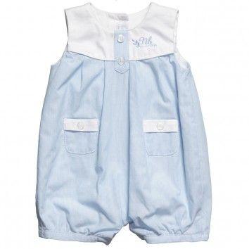 Baby Boys Blue Pinstripe Shortie