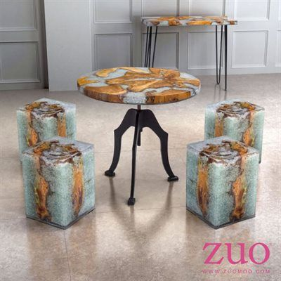 Zuo Modern Fissure Small Dining Set