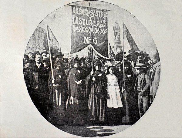 1906, gremio de sastres y costureras de Valparaíso