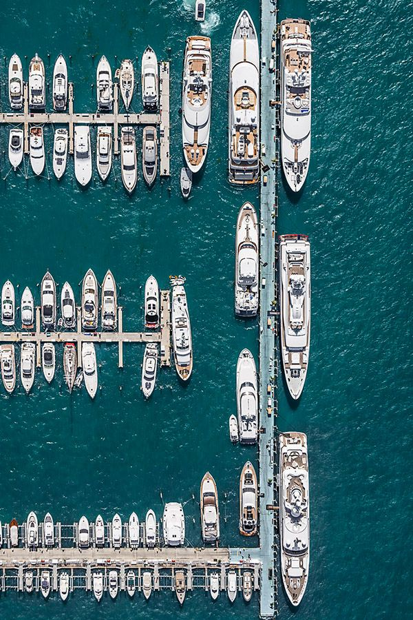 Aerial Views Miami by Bernhard Lang