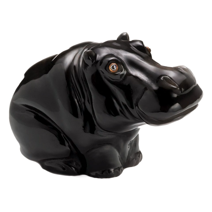 1stdibs - FABERGÉ Obsidian Diamond Eyes Seated Hippo explore items from 1,700  global dealers at 1stdibs.com