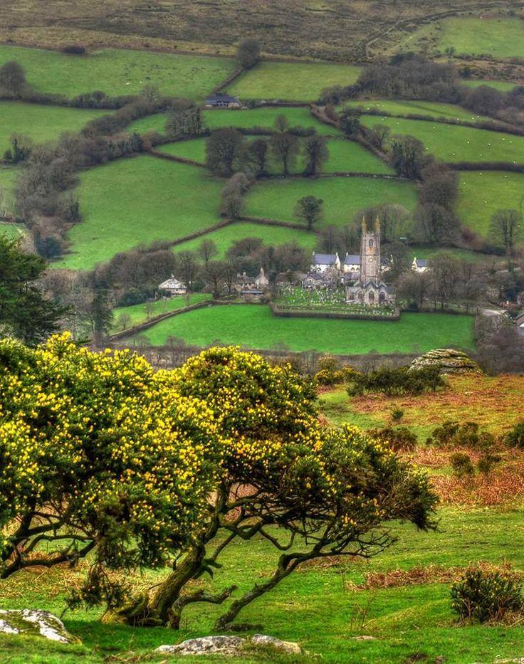 Widecombe-in-the-Moor, Dartmoor, Devon.