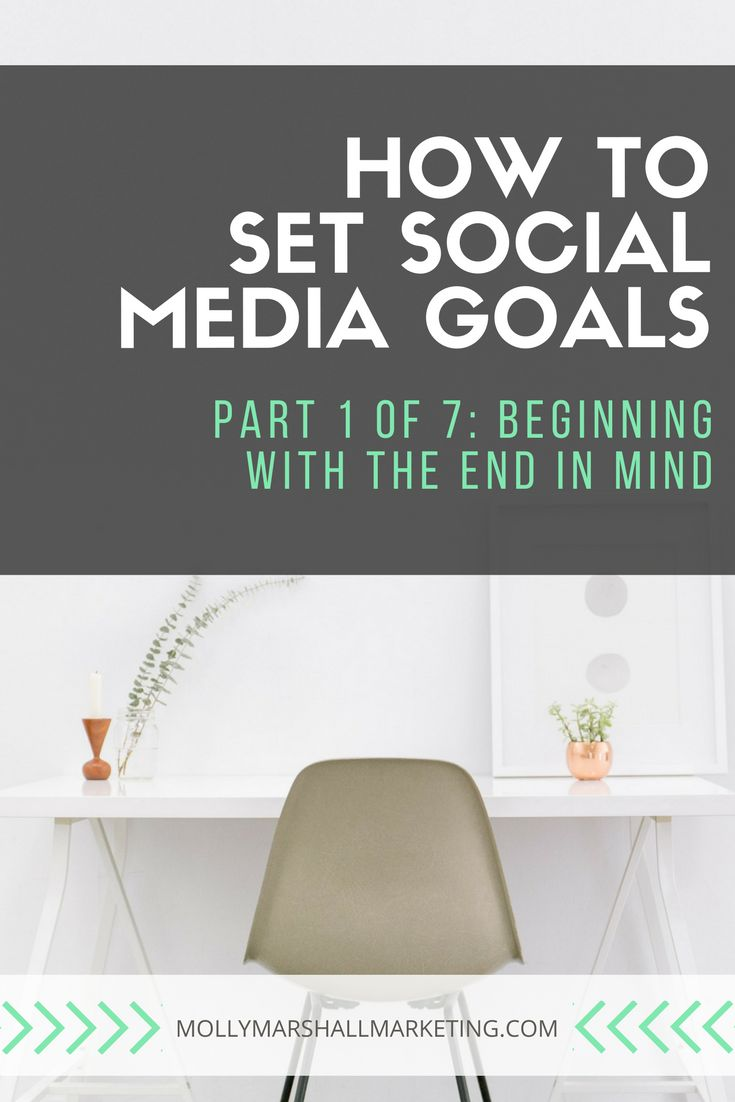 Setting #socialmedia goals is the first step to having an effective strategy in place! // Molly Marshall Marketing  -- #smm