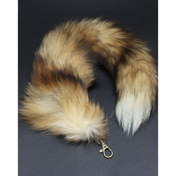 Red Fox Tail Key Chain, natural Red Fox tail Keychain 15-17 inches... (55 CAD) ❤ liked on Polyvore