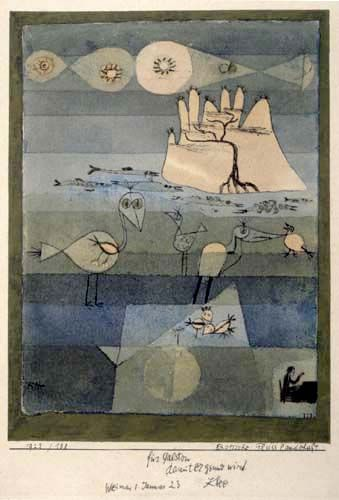 Exotic River Landscape - PAUL KLEE (1922)