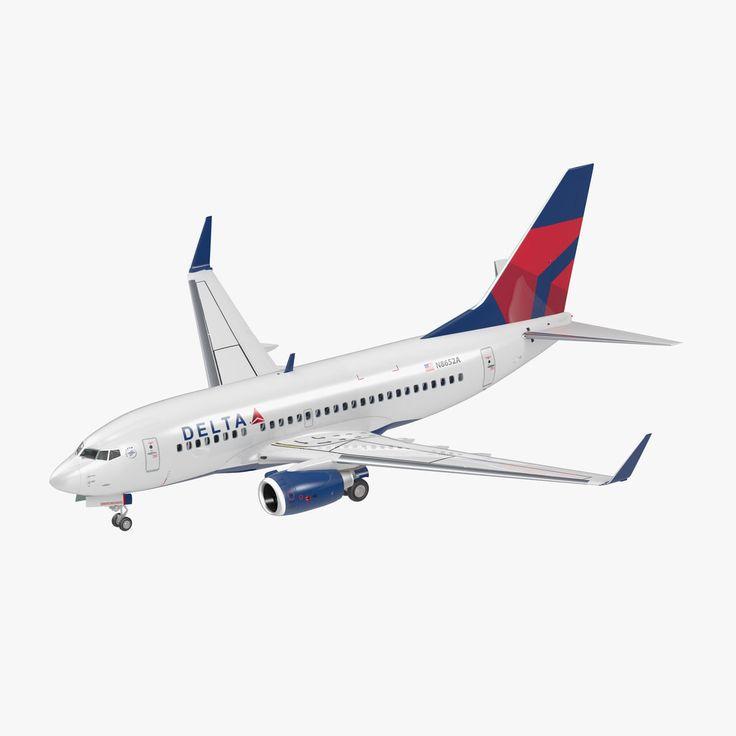 Boeing 737 600 Interior Delta 3D Max - 3D Model