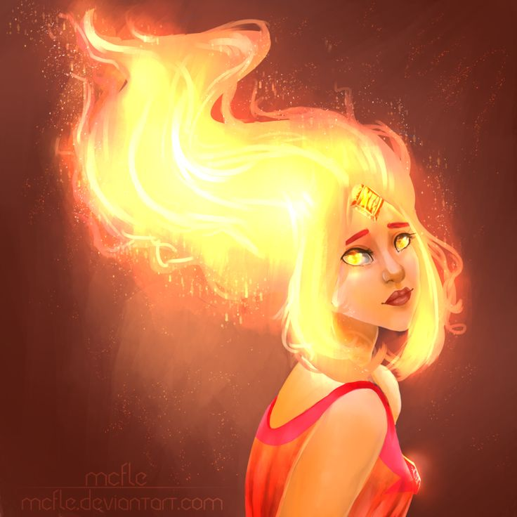 Flame Princess | Adventure Time + SpeedPaint by mcfle.deviantart.com on @DeviantArt